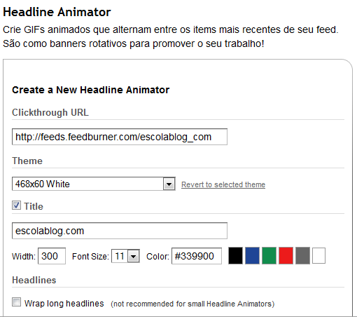 headline animator